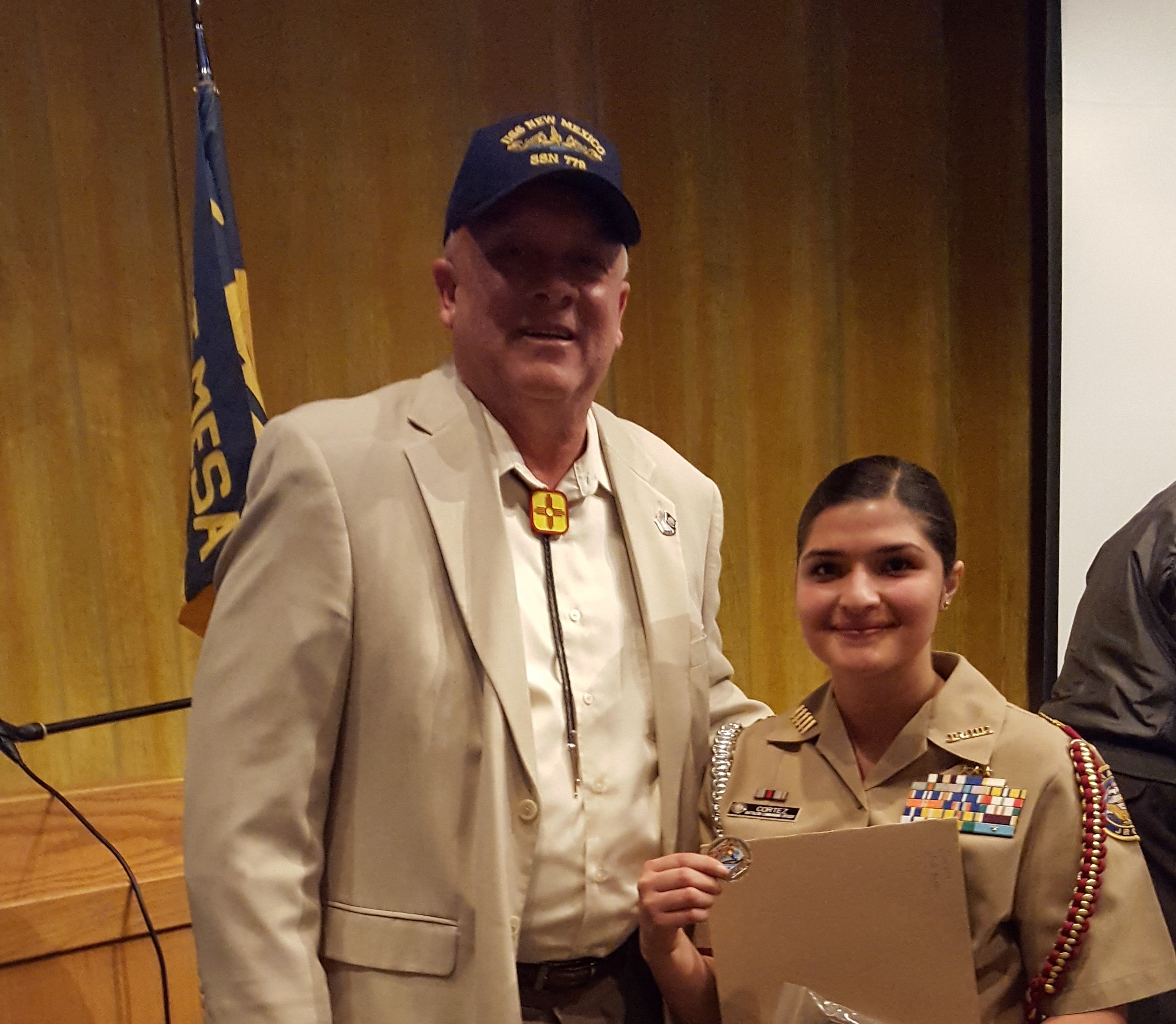 Cadet LCDR Roxanne Cortez West Mesa HS NJROTC 3May 17