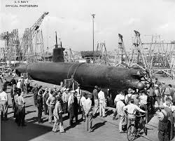 Salvaged HA-19 submarine at Mare Island